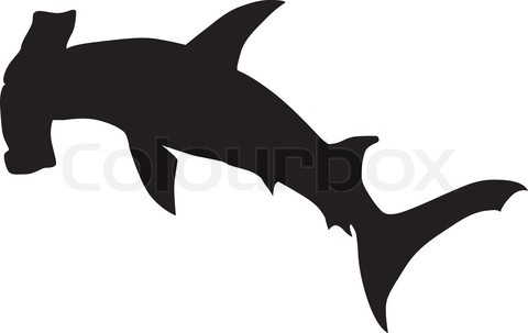 Hammerhead clipart shark outline Art Hammerhead Outline clip silhouette