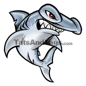 Hammerhead clipart tiger sharks Designs temporary  Pranha Tiger