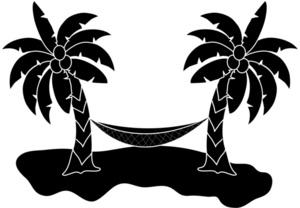 Beach clipart silhouette Tree Clipart Cliparts Zone Beach