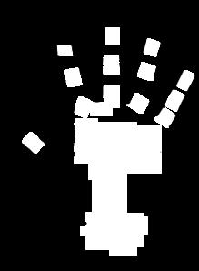 Hand clipart Outline Art Clip Clipart open%20hand%20outline
