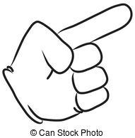 Hand clipart  HAND Stock Cartoon POINTING