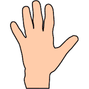 Finger clipart kid hand #14