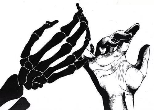 Creepy clipart hand Dark skeleton dark scary creepy