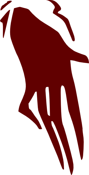 Creepy clipart hand Clip Clker online vector Hand