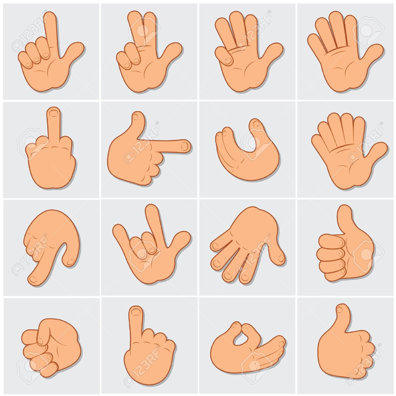 Hand Gesture clipart Hand gesture Collection Clipart clipart