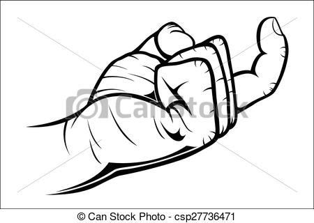 Hand Gesture clipart black and white Come Vectors Vector csp27736471 of