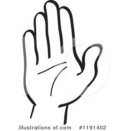 Hand Gesture clipart black and white Clipart Illustration Illustration Clipart by