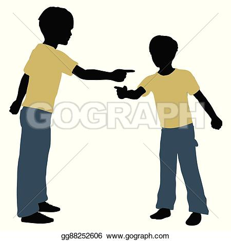 Hand Gesture clipart boy talk Clipart Clipart in pose silhouette