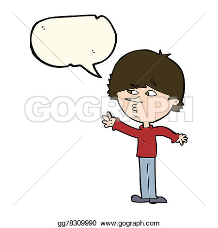 Hand Gesture clipart boy talk Illustrations  bubble Stock with