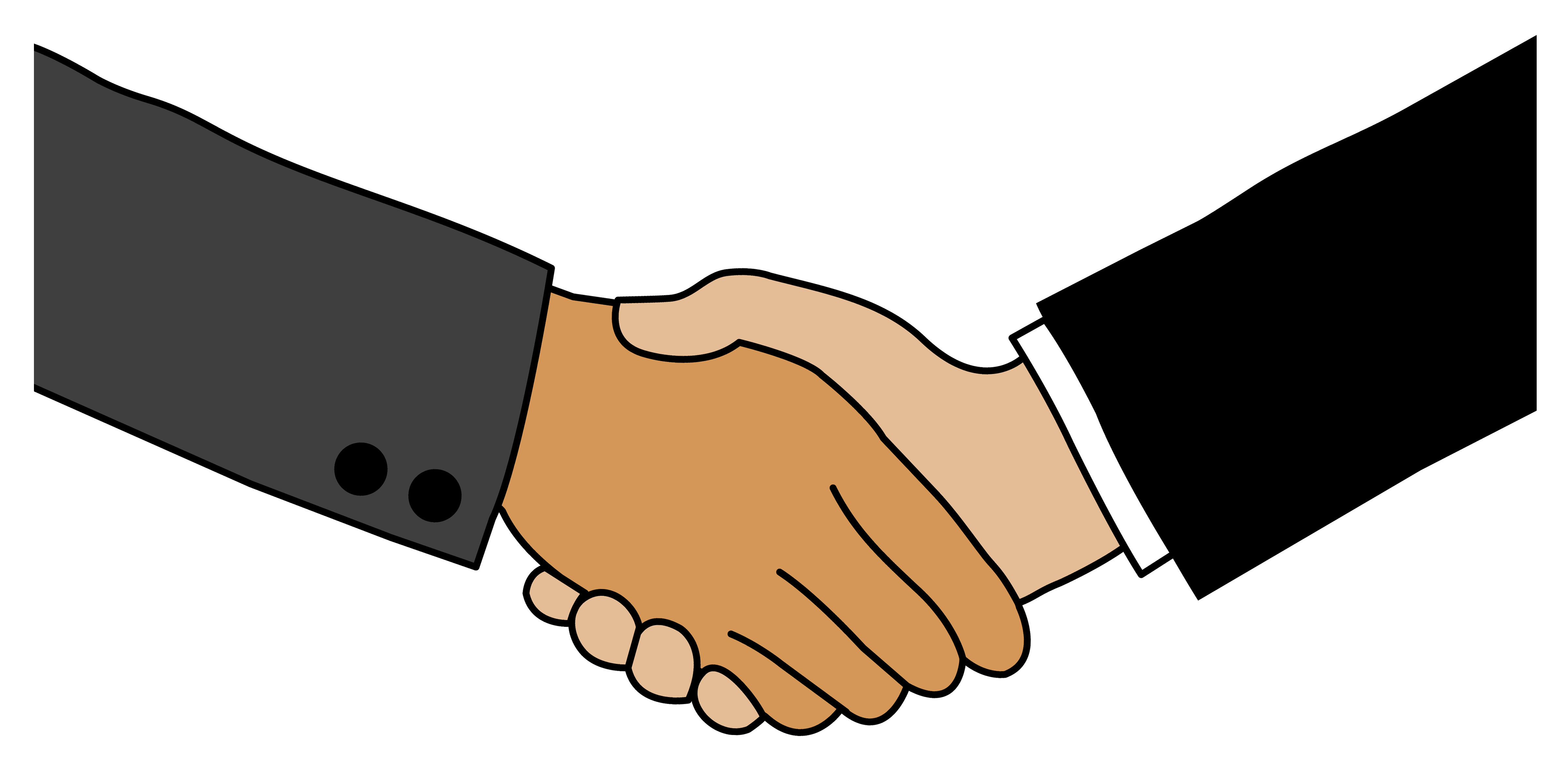 Business clipart hand shaking Business Greeting Clip People Handshake