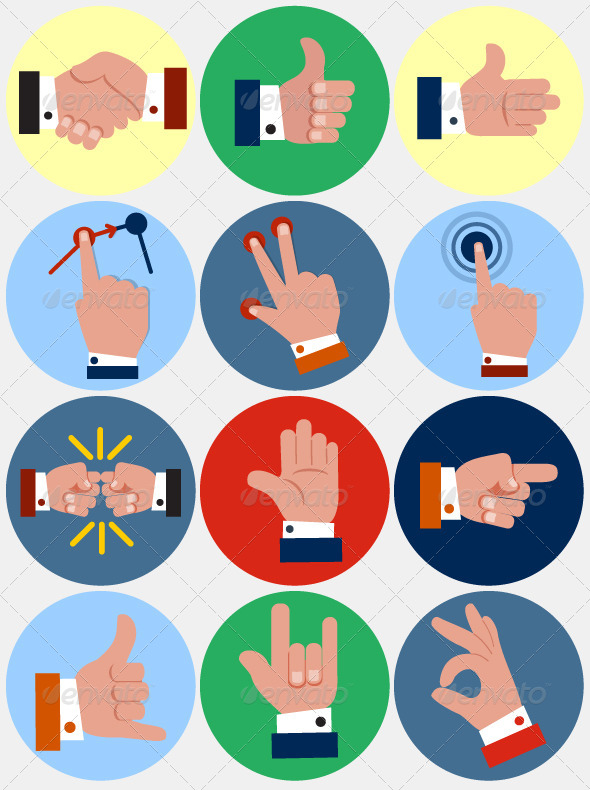 Hand Gesture clipart business communication #1
