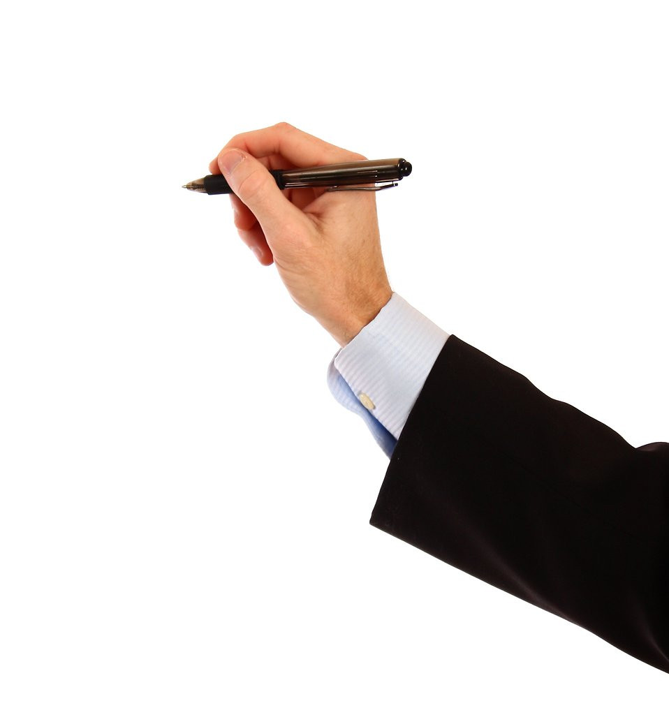 Hand Gesture clipart business writing Stock Free pen a hand