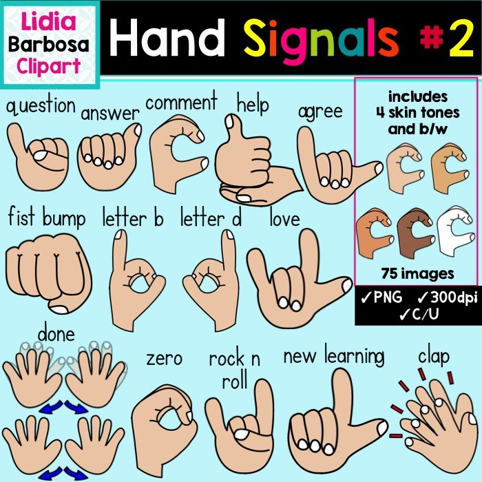 Hand Gesture clipart closed hand Hand Clipart Classroom  Signals
