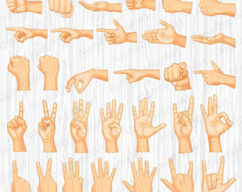 Hand Gesture clipart closed hand Clipart Sign gesture hands gestures