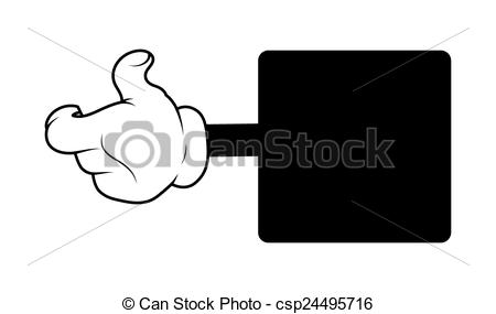 Hand Gesture clipart comic Cartoon Black Gesture Banner Art