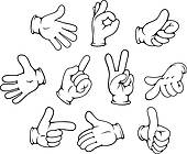 Hand Gesture clipart different Set Hand hand Free GoGraph