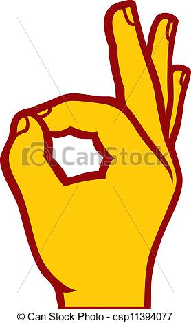 Hand Gesture clipart drawn (OK human hand sign human