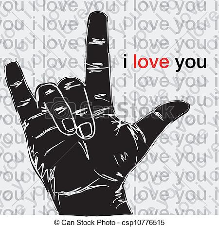 Hand Gesture clipart drawn Of csp10776515 Clip Art love