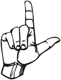 Hand Gesture clipart drawn Clipart Loser Download Hand Sign