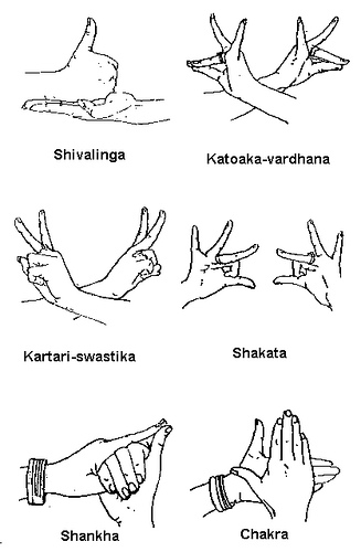 Hand Gesture clipart explanation Mudra Natyakriya: Hasta gestures few