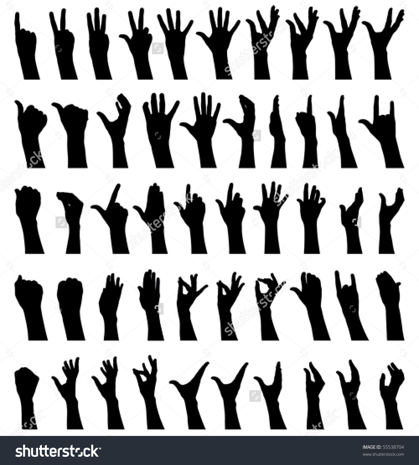 Hand Gesture clipart female Silhouette (47+) collection Clipart female