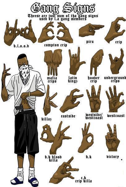 Hand Gesture clipart gangster #9