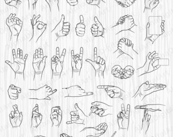 Hand Gesture clipart man pointing Hands clipart icons The 40