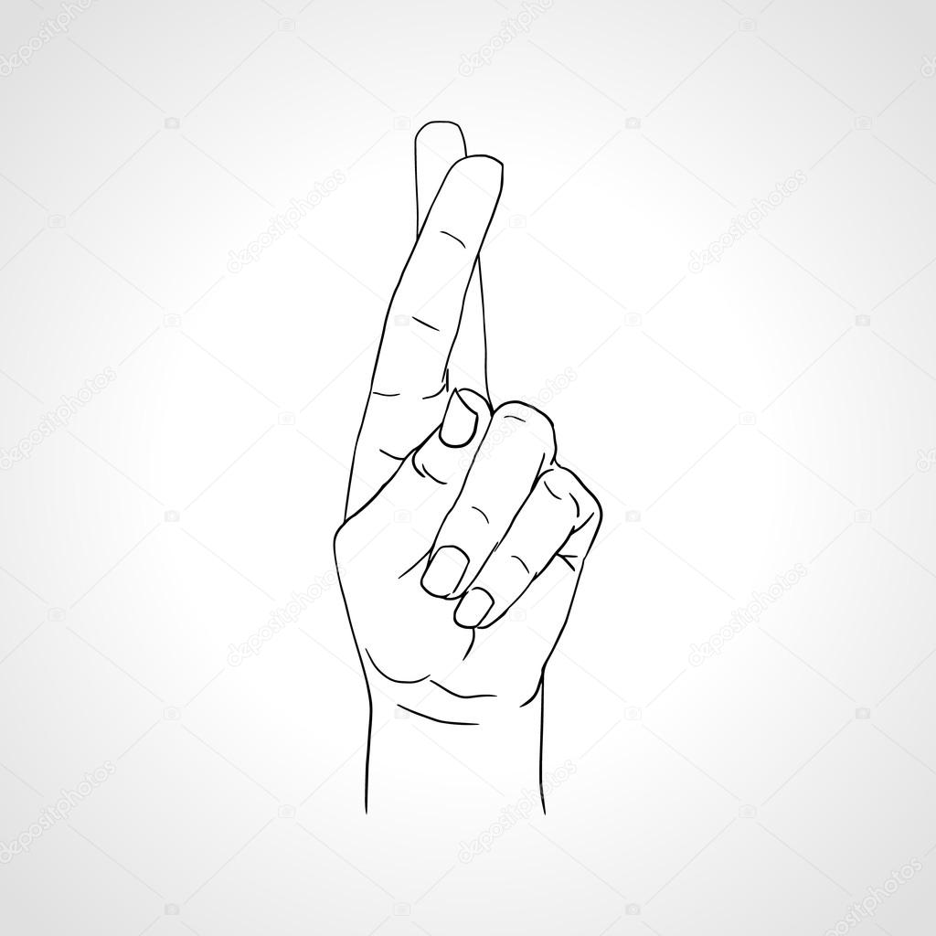 Hand Gesture clipart gesture drawing Fingers hand by — hand