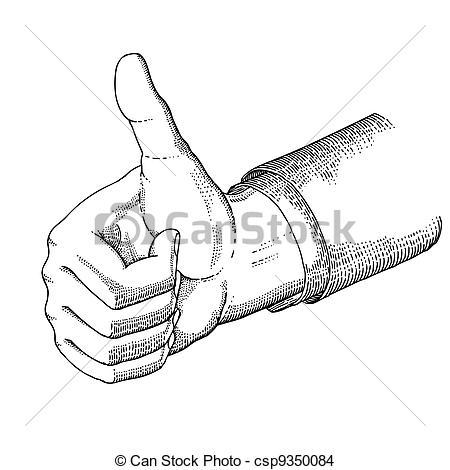 Hand Gesture clipart gesture drawing Vintage csp9350084 of gesture the