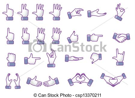 Hand Gesture clipart gesture drawing Concept gestures Clipart Different Illustration