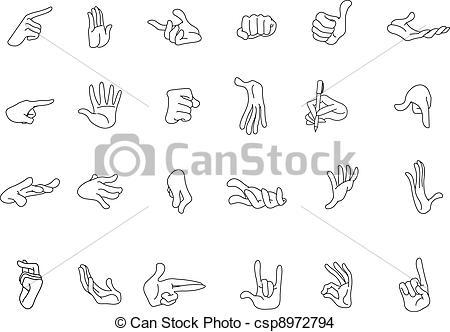 Hand Gesture clipart gesture drawing Csp8972794 gestures EPS of gestures