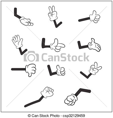 Hand Gesture clipart glove Human on hand gloves isolated