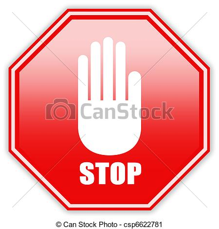 Stop clipart hand And Art Stop Stock sign
