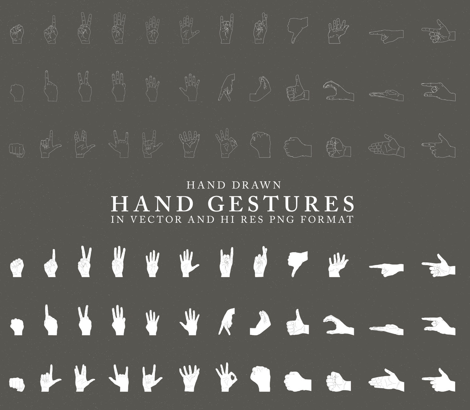 Hand Gesture clipart hand sign Hand Finger Drawn Sign Etsy