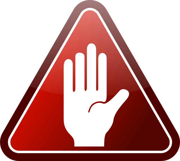 Hand Gesture clipart hand stop Image as: Sign Download art