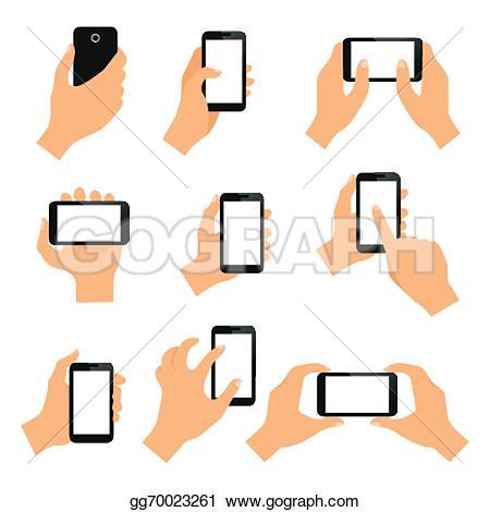 Hand Gesture clipart hand tap Stock hand Vector Stock design