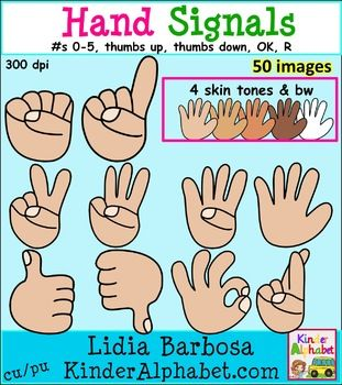 Hand Gesture clipart handout Signals {Clip verbal is signals