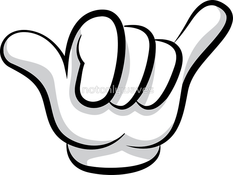 Hand Gesture clipart hang loose Stickers Hang by Surf rock