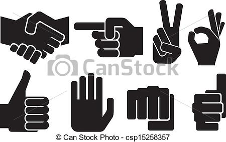 Hand Gesture clipart human hand Sign sign collection hand human