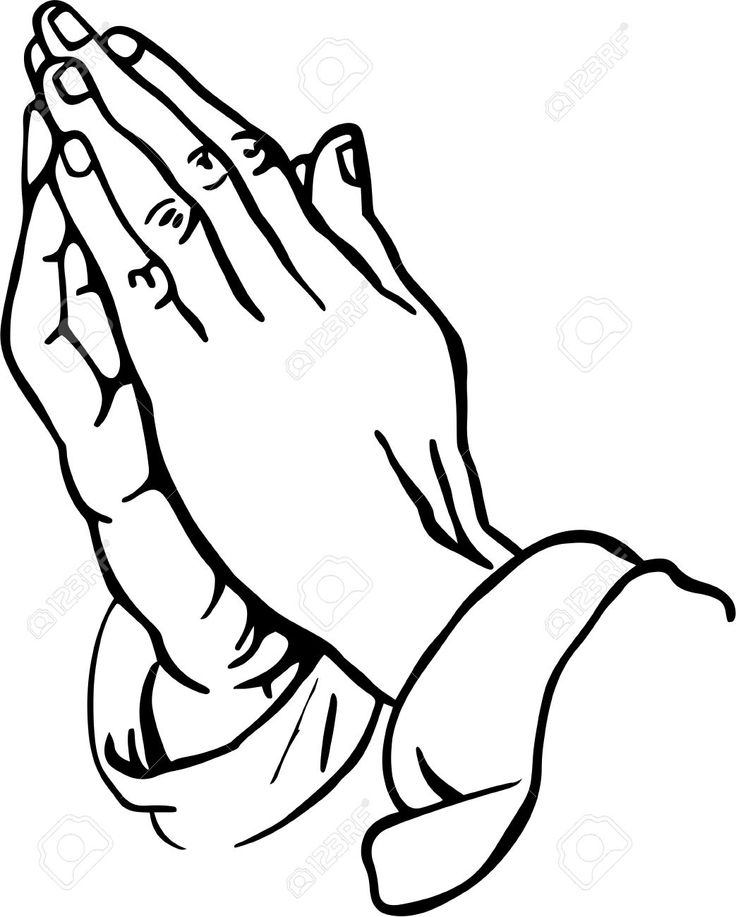 Hand Gesture clipart line art #6