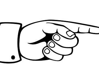 Hand Gesture clipart line art #7