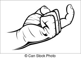 Hand Gesture clipart line art #2