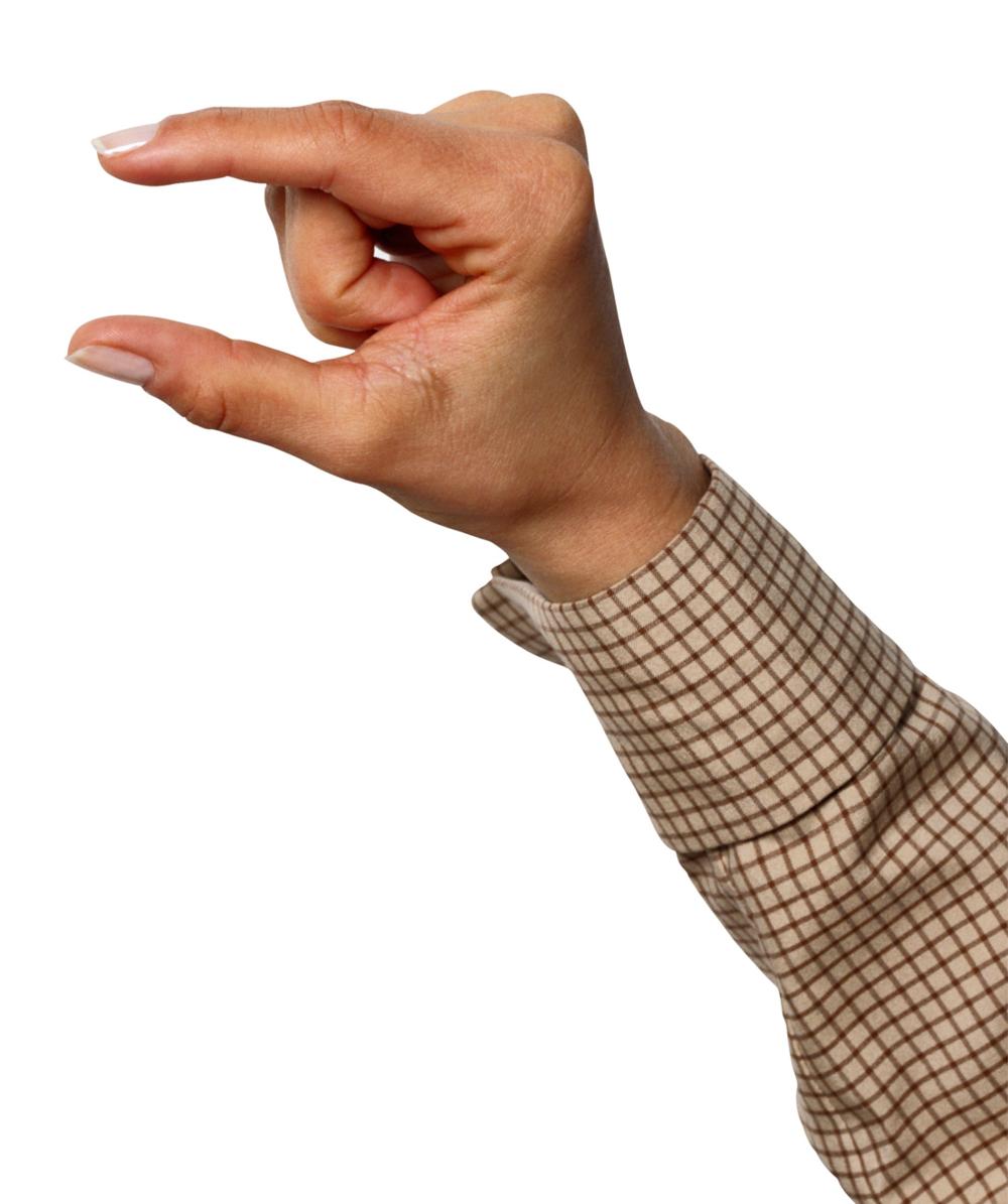 Hand Gesture clipart little bit Hand Cliparts Cliparts bit Little