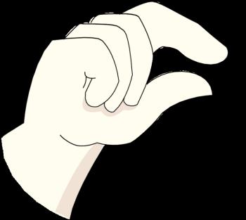 Hand Gesture clipart little bit More! Bellah Butch Just Little