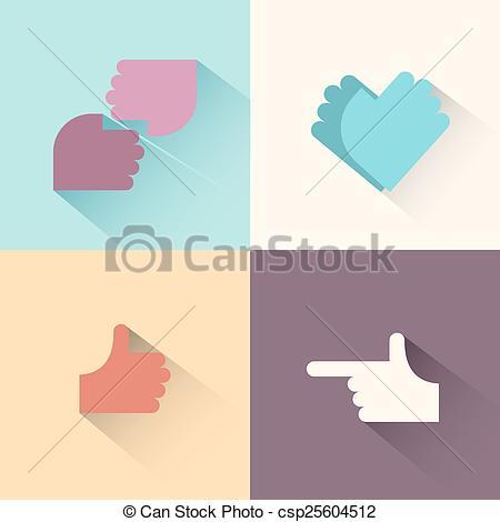 Gestures logo logo gestures of