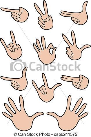 A gestures set hand set