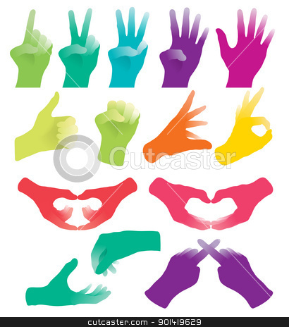 Hand Gesture clipart need you Sign Hand stock vector Hand