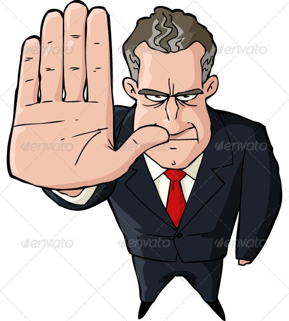 Hand Gesture clipart no hand Businessman Showing best 7 Stop