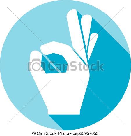 Hand Gesture clipart ok hand Symbol human flat Vector human