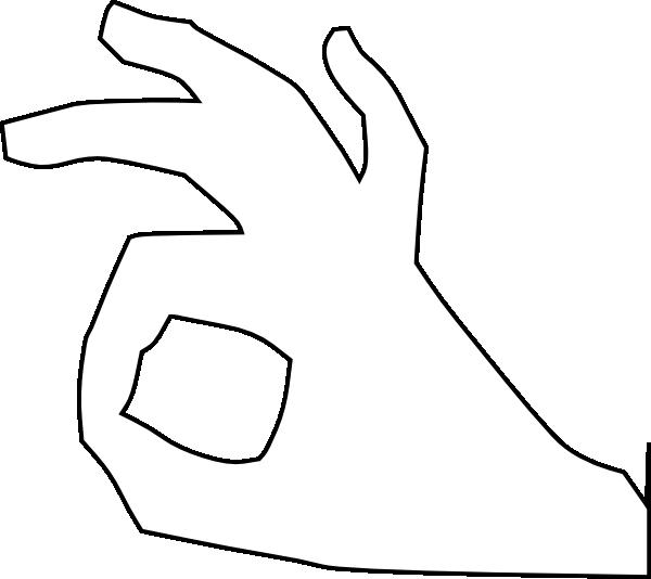 Hand Gesture clipart ok hand  this clip Art Clker